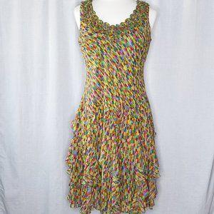 Signature by Robbie Bee Midi Length Ruffled Dress